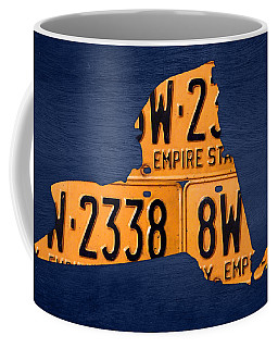 New York State License Plate Map Coffee Mug