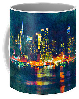 New York State Of Mind Abstract Realism Coffee Mug