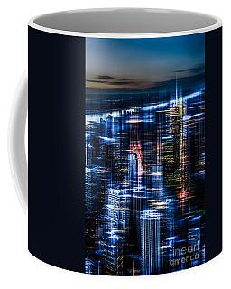 New York - The Night Awakes - Blue I Coffee Mug