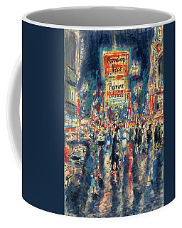 New York Times Square 79 - Watercolor Art Painting Coffee Mug