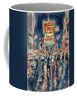 New York Times Square 79 - Watercolor Art Painting Coffee Mug