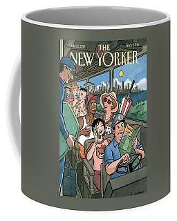 New Yorker Characters Board A City Bus Coffee Mug