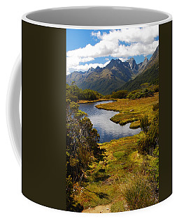 Coffee Mug featuring the photograph New Zealand Alpine Landscape by Cascade Colors