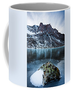 Frozen Mountain Lake Coffee Mug