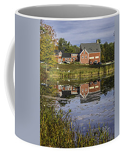 Coffee Mug featuring the photograph Nh Farm Reflection by Betty Denise