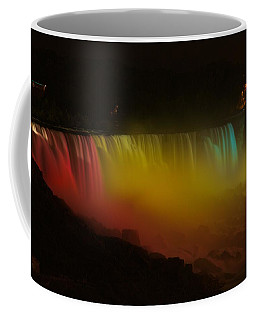 Coffee Mug featuring the photograph Niagara Falls A Glow by Dave Files