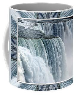 Coffee Mug featuring the photograph Niagara Falls American Side Closeup With Warp Frame by Rose Santuci-Sofranko