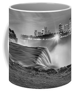 Niagara Falls Black And White Starbursts Coffee Mug