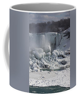 Niagara Falls Ice Buildup - American Falls New York State U S A Coffee Mug