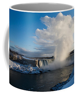 Niagara Falls Makes Its Own Weather Coffee Mug by Georgia Mizuleva