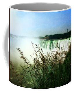 Niagara Falls With Grasses Coffee Mug