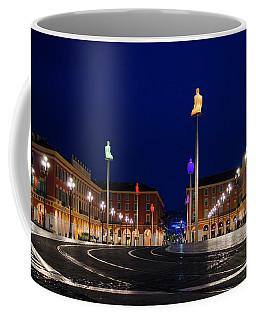 Nice France - Place Massena Blue Hour  Coffee Mug