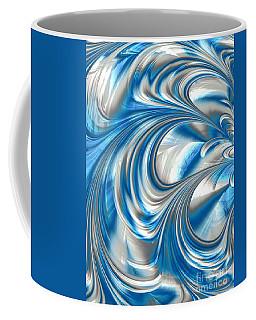 Nickel Blue Abstract Coffee Mug