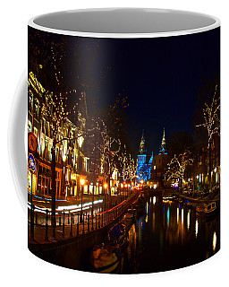 Nieuwe Spieglestraat At Night Coffee Mug by Jonah  Anderson