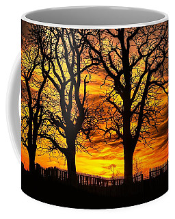 Night Approaches-1a Sunset At The Gettysburg Battlefield Coffee Mug