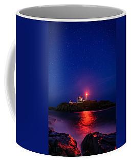 Night At Nubble Light Coffee Mug
