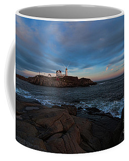 Night At Nubble Light Coffee Mug