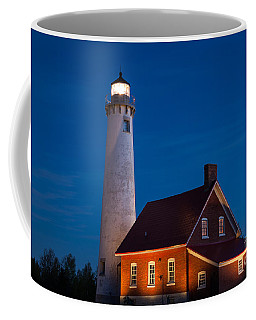 Night At The Lighthouse Coffee Mug by Patrick Shupert
