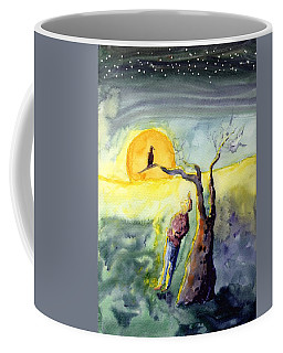 Night Bird Omen Coffee Mug