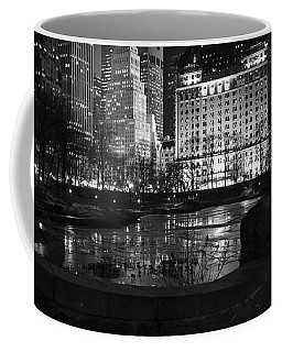 Night Central Park Lake H Coffee Mug