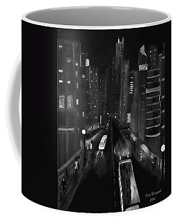 Night City Scape Coffee Mug by Dick Bourgault