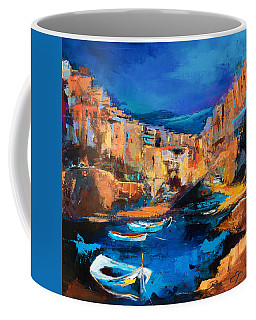 Night Colors Over Riomaggiore - Cinque Terre Coffee Mug