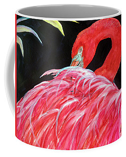 Night Flamingo Coffee Mug by Lil Taylor