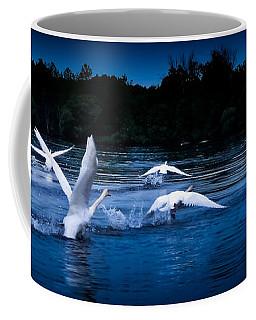 Coffee Mug featuring the photograph Night Flight   by Lars Lentz