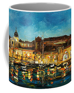 Night In Dubrovnik Harbour Coffee Mug