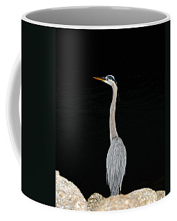 Night Of The Blue Heron 3 Coffee Mug