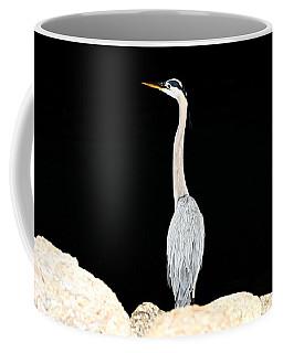 Night Of The Blue Heron  Coffee Mug