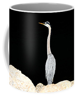 Night Of The Blue Heron  Coffee Mug
