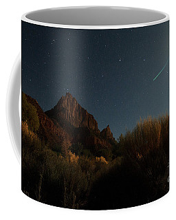 Coffee Mug featuring the photograph Night Sky Over Zion by Angelique Olin