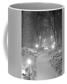 Coffee Mug featuring the photograph Night Storm New York by Dave Beckerman