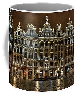 Night Time In Grand Place Coffee Mug