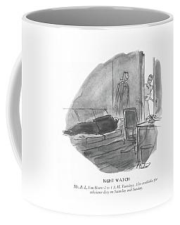 Night Watch  Mr. R.l.van Horn: 2 To 4 A.m Coffee Mug