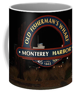 Nightfall At The Old Fishermans Wharf At The Monterey Harbor California 5d25175 Coffee Mug