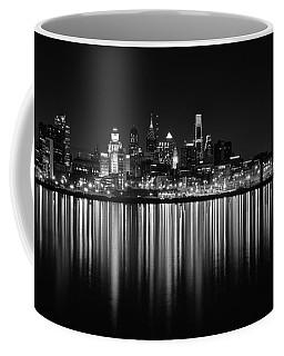 Nightfall In Philly B/w Coffee Mug