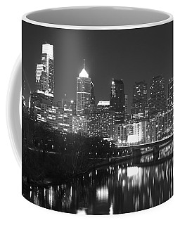 Coffee Mug featuring the photograph Nighttime In Philadelphia by Alice Gipson