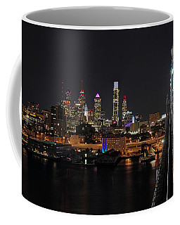 Nighttime Philly From The Ben Franklin Coffee Mug