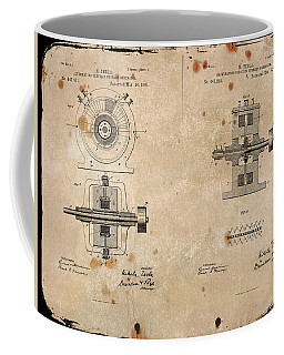 Nikola Tesla's Alternating Current Generator Patent 1891 Coffee Mug