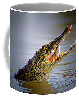 Nile Crocodile Swollowing Fish Coffee Mug