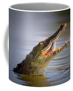 Nile Crocodile Swollowing Fish Coffee Mug