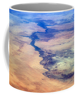 Coffee Mug featuring the photograph Nile River From The Iss by Science Source