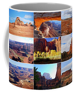 Nine Utah Landmarks Coffee Mug by Catherine Sherman