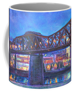 City At Night Downtown Evening Scene Original Contemporary Painting For Sale Coffee Mug by Quin Sweetman