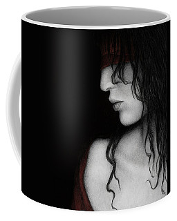 Coffee Mug featuring the painting No Looking Back by Pat Erickson