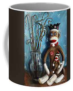 No Monkey Business Here 1 Coffee Mug by Randy Burns