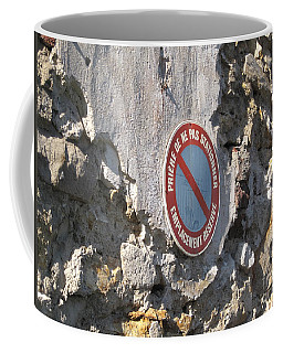 No Parking Coffee Mug by HEVi FineArt
