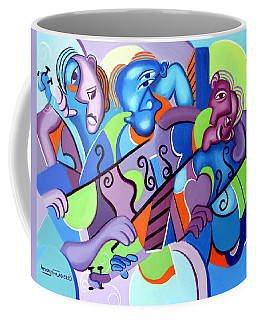 Coffee Mug featuring the painting No Strings Attached by Anthony Falbo